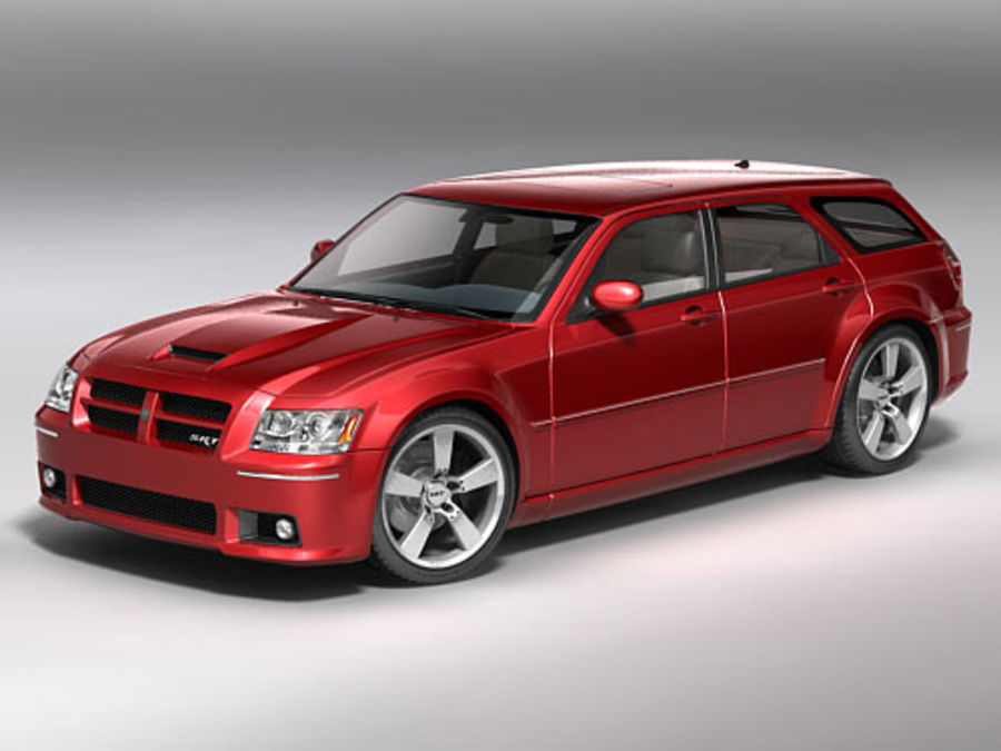 dodge magnum 2008 royalty-free 3d model - Preview no. 1