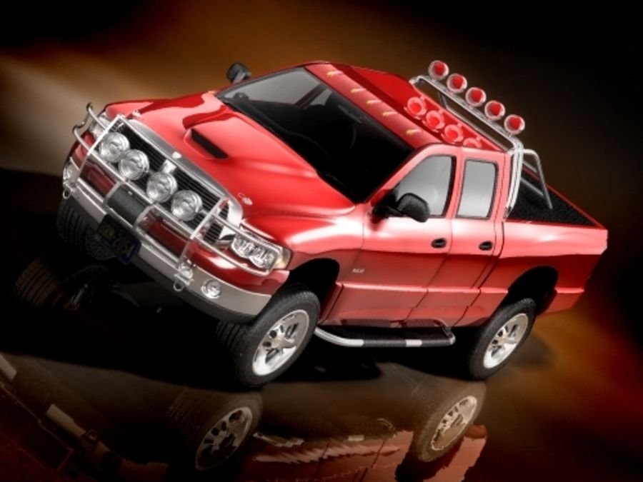 dodge ram 2005 offroad royalty-free 3d model - Preview no. 2