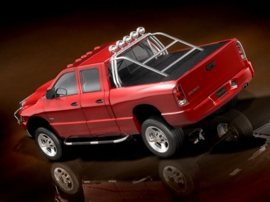 dodge ram 2005 offroad royalty-free 3d model - Preview no. 4