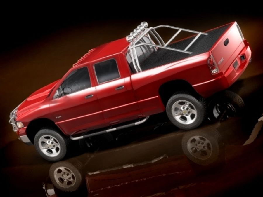 dodge ram 2005 offroad royalty-free 3d model - Preview no. 3