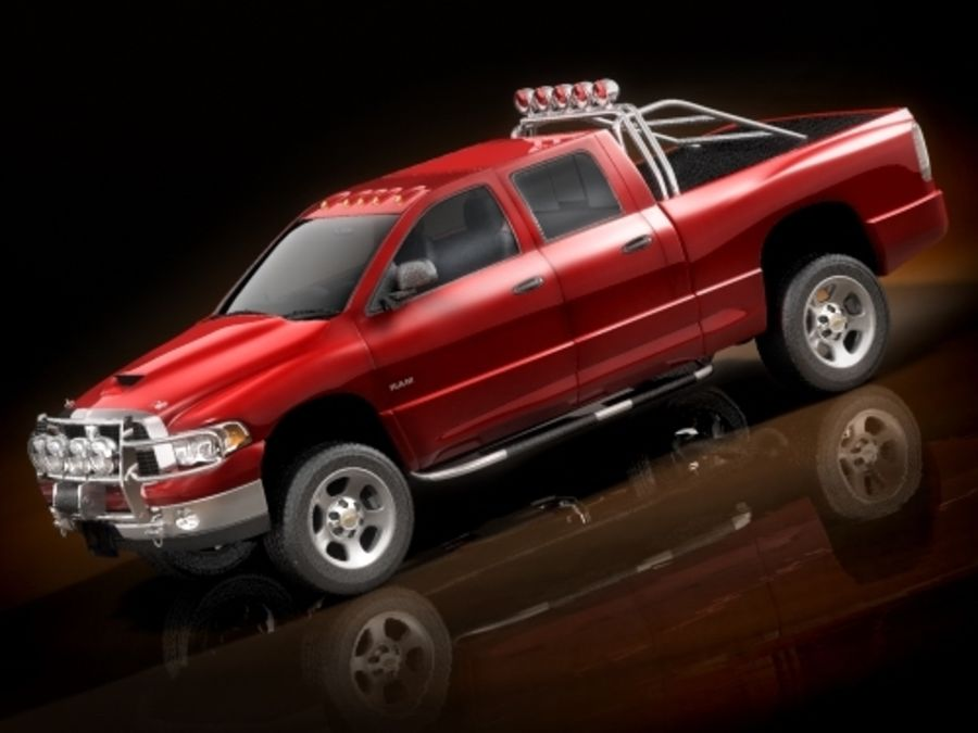 dodge ram 2005 offroad royalty-free 3d model - Preview no. 5
