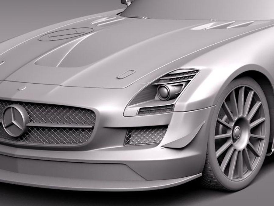 Mercedes-Benz SLS AMG GT 3 royalty-free 3d model - Preview no. 11