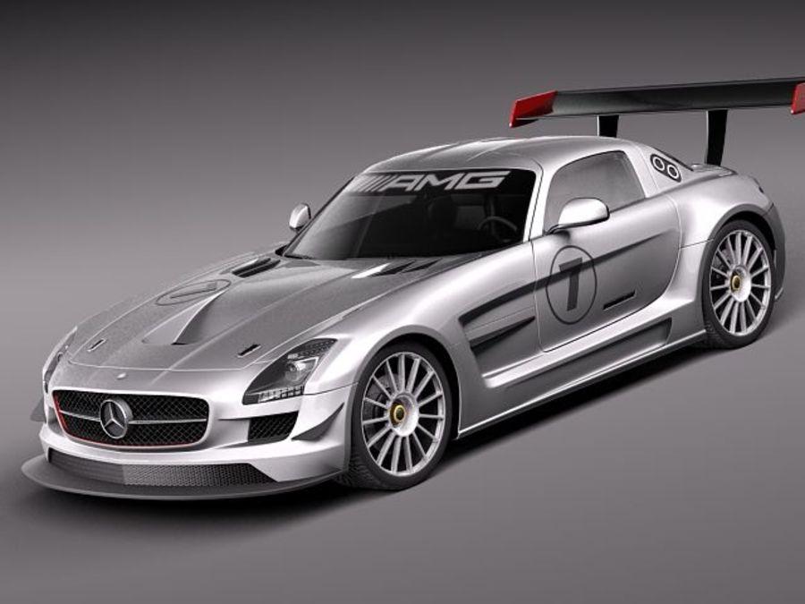 Mercedes-Benz SLS AMG GT 3 royalty-free 3d model - Preview no. 1