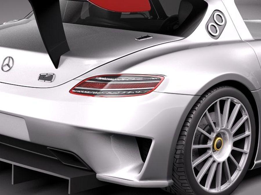 Mercedes-Benz SLS AMG GT 3 royalty-free 3d model - Preview no. 4