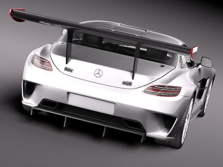 Mercedes-Benz SLS AMG GT 3 royalty-free 3d model - Preview no. 6