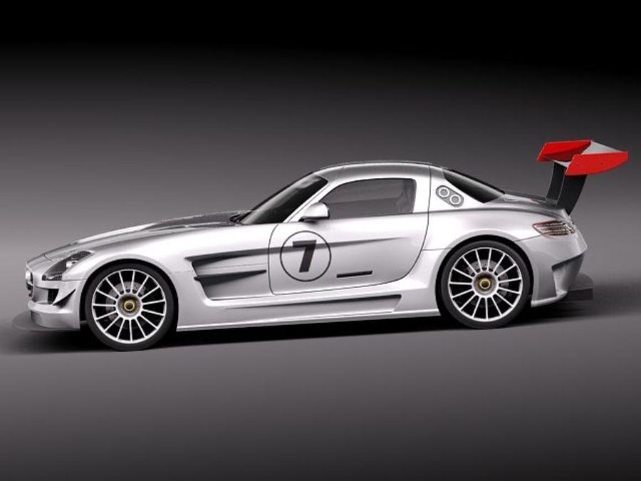 Mercedes-Benz SLS AMG GT 3 royalty-free 3d model - Preview no. 7