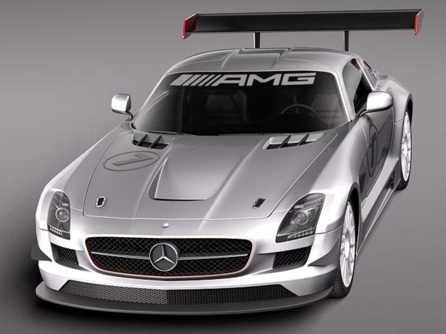 Mercedes-Benz SLS AMG GT 3 royalty-free 3d model - Preview no. 2