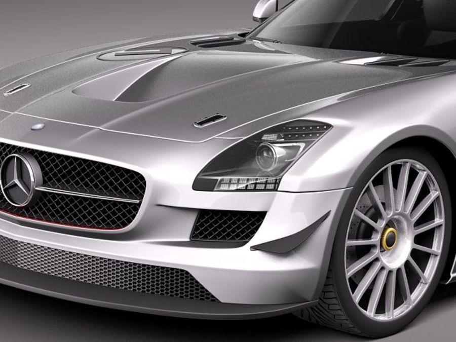 Mercedes-Benz SLS AMG GT 3 royalty-free 3d model - Preview no. 3