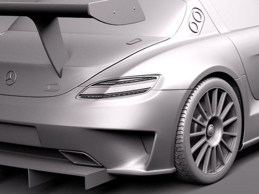 Mercedes-Benz SLS AMG GT 3 royalty-free 3d model - Preview no. 10