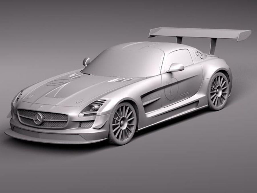 Mercedes-Benz SLS AMG GT 3 royalty-free 3d model - Preview no. 12