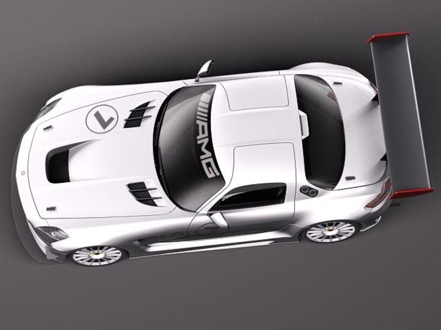Mercedes-Benz SLS AMG GT 3 royalty-free 3d model - Preview no. 8