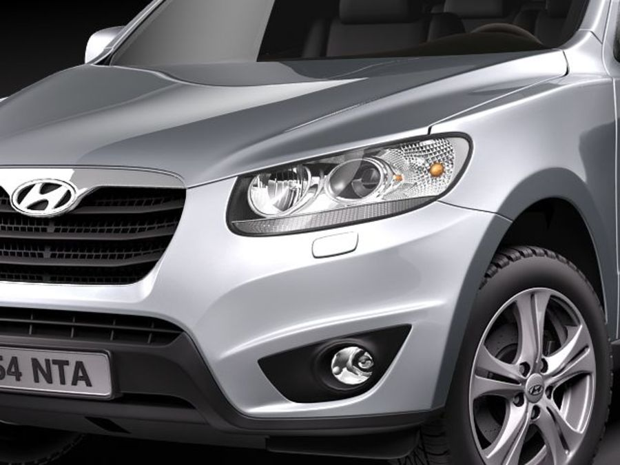 Hyundai SantaFe 2010-2013 royalty-free 3d model - Preview no. 3