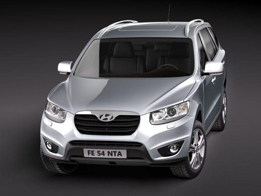Hyundai SantaFe 2010-2013 royalty-free 3d model - Preview no. 2