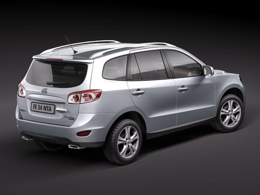 Hyundai SantaFe 2010-2013 royalty-free 3d model - Preview no. 6