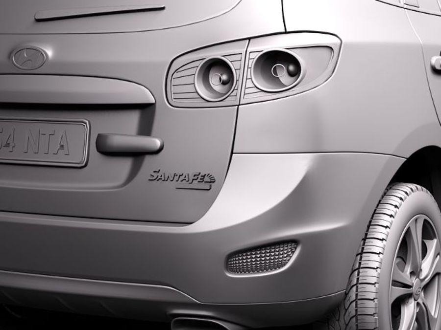 Hyundai SantaFe 2010-2013 royalty-free 3d model - Preview no. 12