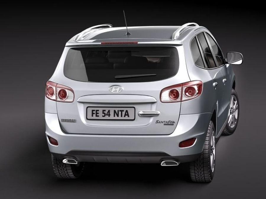 Hyundai SantaFe 2010-2013 royalty-free 3d model - Preview no. 5