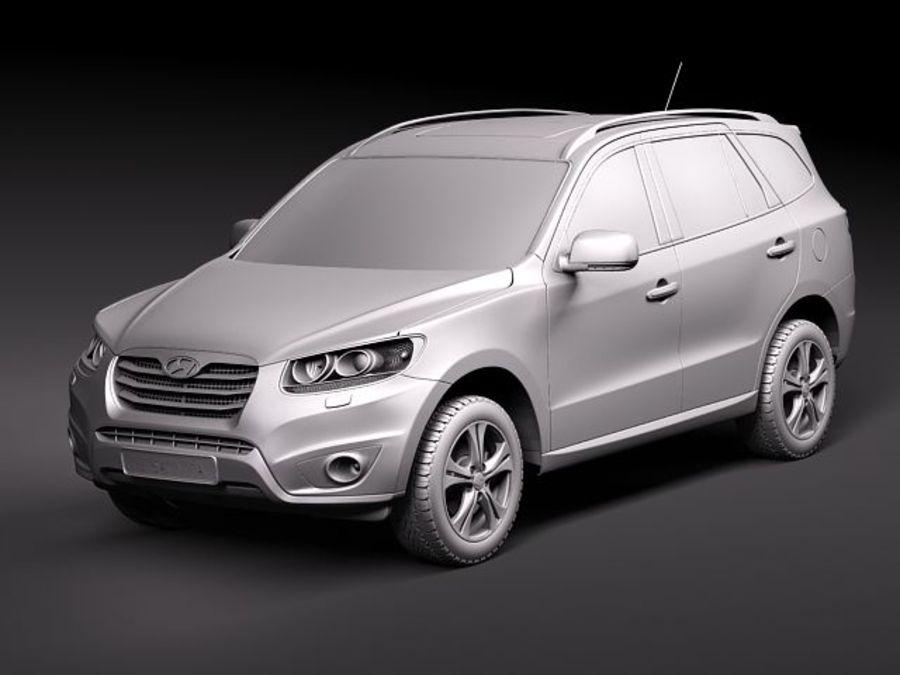 Hyundai SantaFe 2010-2013 royalty-free 3d model - Preview no. 10