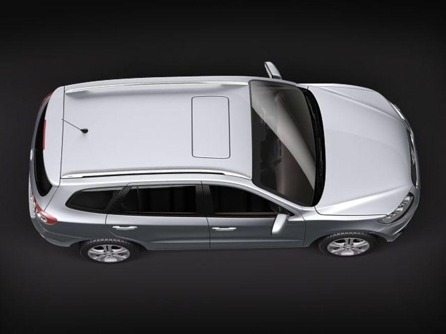 Hyundai SantaFe 2010-2013 royalty-free 3d model - Preview no. 8