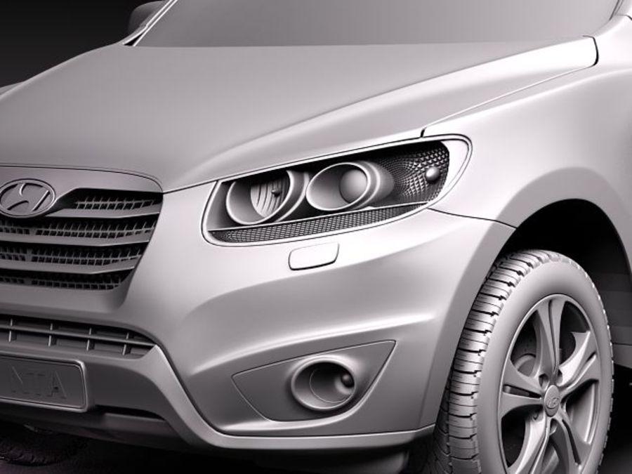 Hyundai SantaFe 2010-2013 royalty-free 3d model - Preview no. 11