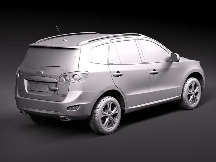 Hyundai SantaFe 2010-2013 royalty-free 3d model - Preview no. 9