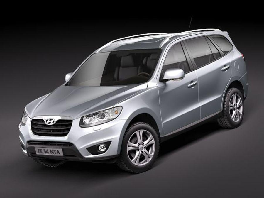 Hyundai SantaFe 2010-2013 royalty-free 3d model - Preview no. 1