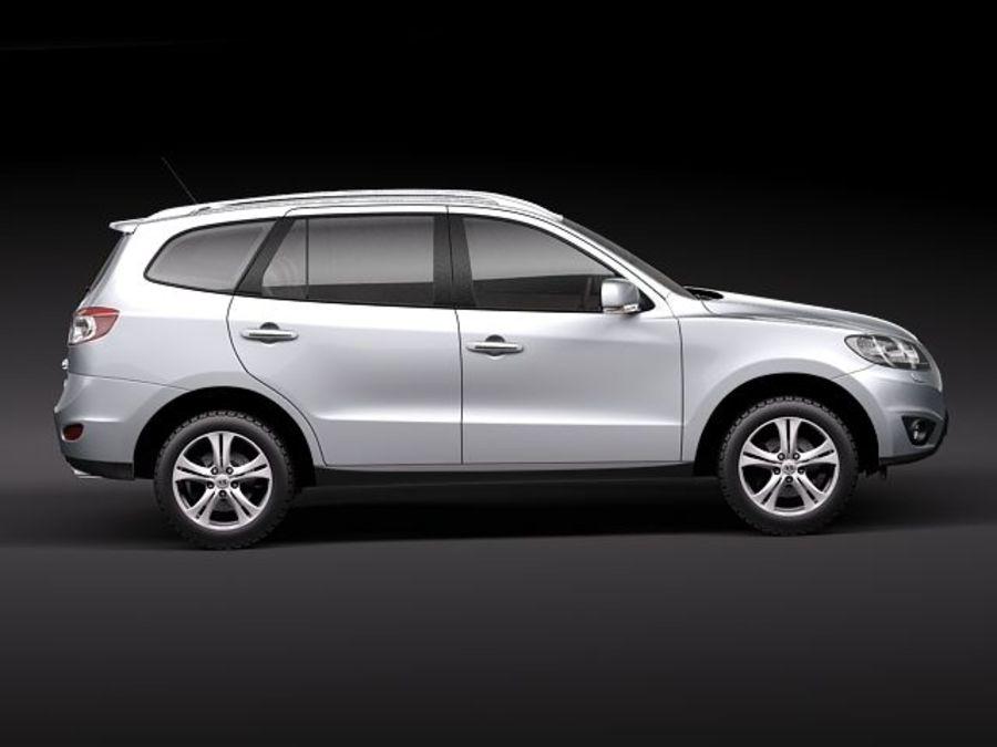 Hyundai SantaFe 2010-2013 royalty-free 3d model - Preview no. 7