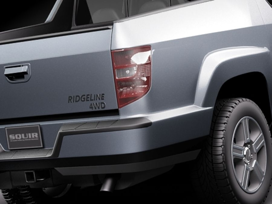 Honda Ridgeline royalty-free 3d model - Preview no. 4