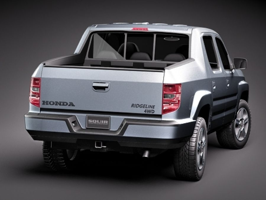 Honda Ridgeline royalty-free 3d model - Preview no. 6