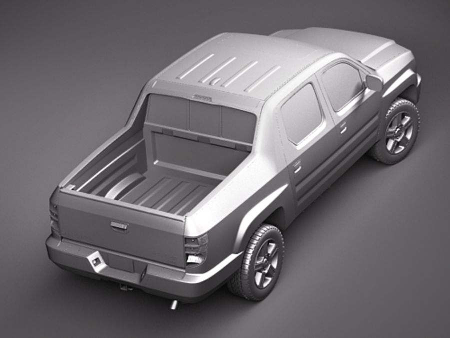 Honda Ridgeline royalty-free 3d model - Preview no. 12