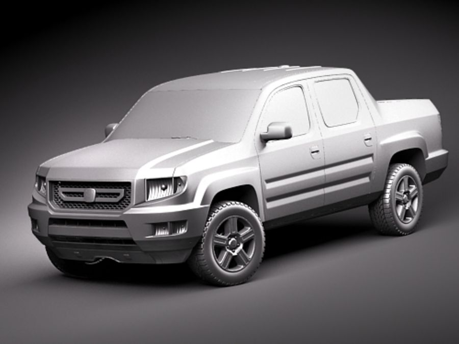 Honda Ridgeline royalty-free 3d model - Preview no. 9