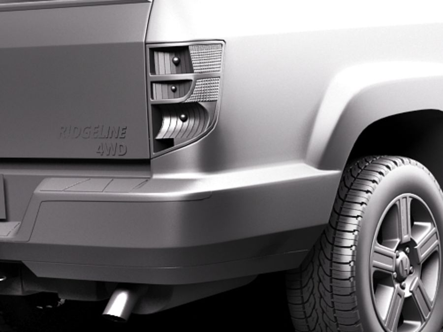 Honda Ridgeline royalty-free 3d model - Preview no. 11