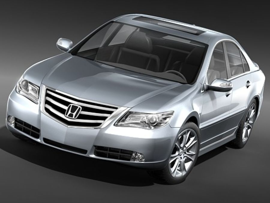 Honda Legend royalty-free 3d model - Preview no. 3