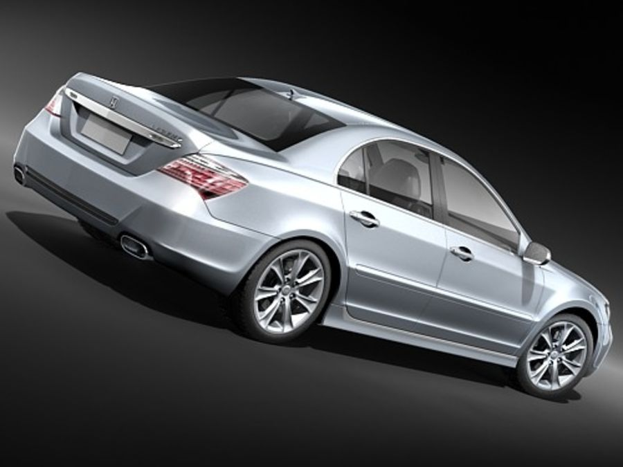 Honda Legend royalty-free 3d model - Preview no. 6