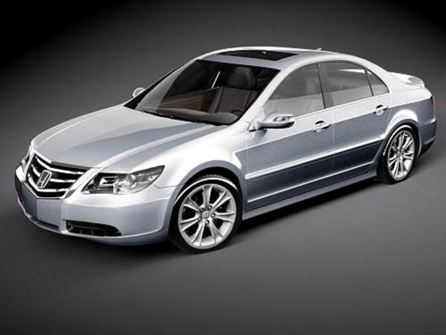 Honda Legend royalty-free 3d model - Preview no. 2