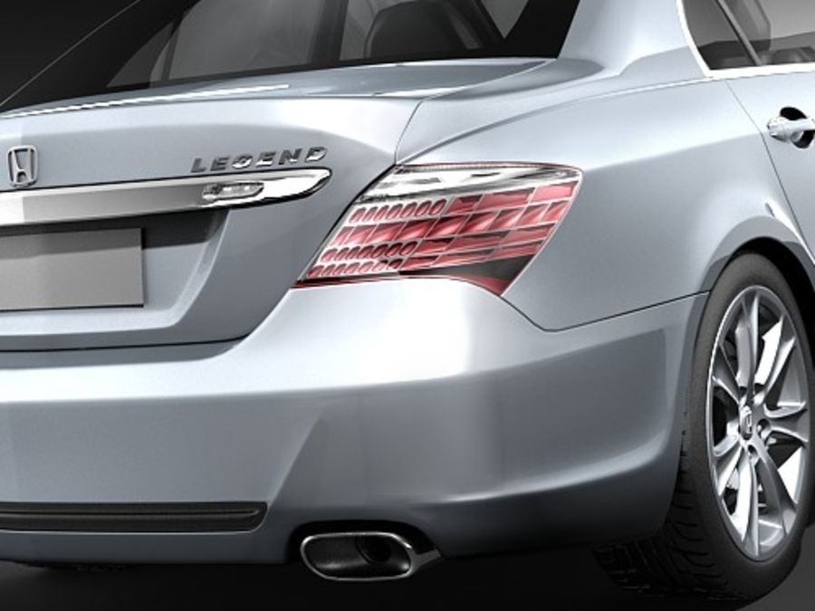 Honda Legend royalty-free 3d model - Preview no. 5