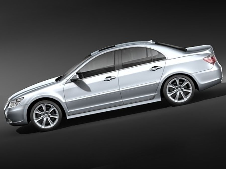 Honda Legend royalty-free 3d model - Preview no. 9