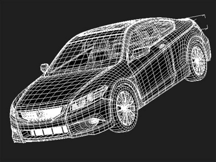 혼다 어코드 쿠페 midpoly royalty-free 3d model - Preview no. 5
