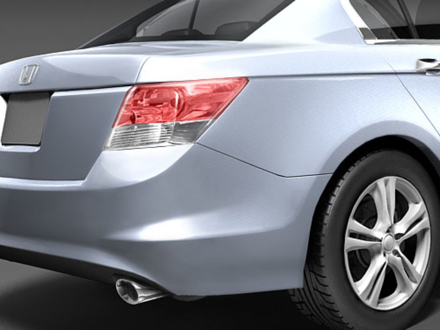 Honda Accord USA royalty-free 3d model - Preview no. 4