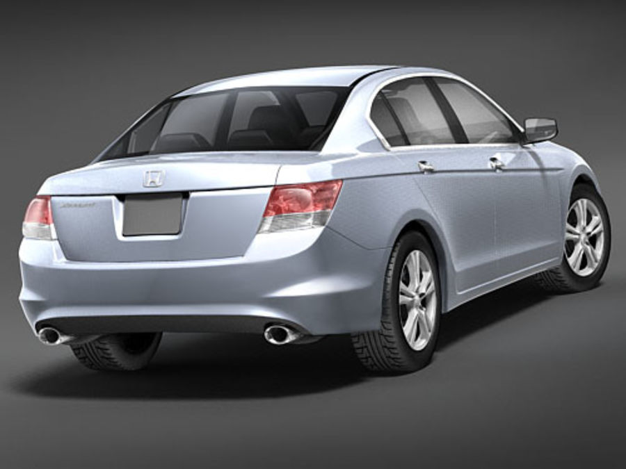 Honda Accord USA royalty-free 3d model - Preview no. 6
