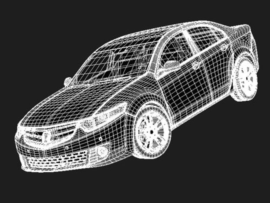 Honda Accord Sedan royalty-free 3d model - Preview no. 7