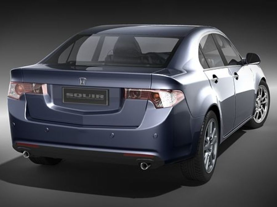 Honda Accord Sedan royalty-free 3d model - Preview no. 6