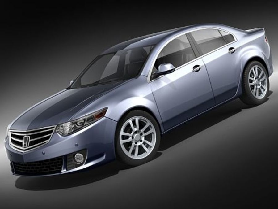 Honda Accord Sedan royalty-free 3d model - Preview no. 1