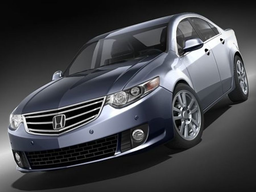 Honda Accord Sedan royalty-free 3d model - Preview no. 2