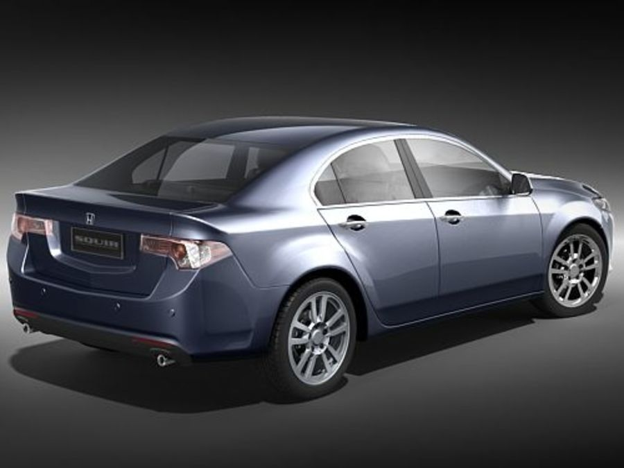 Honda Accord Sedan royalty-free 3d model - Preview no. 5