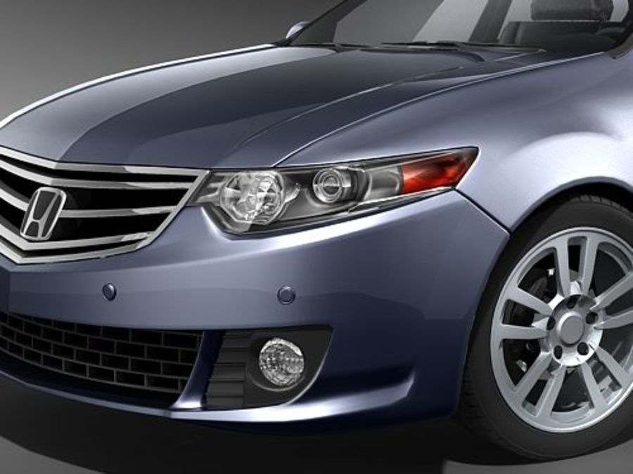 Honda Accord Sedan royalty-free 3d model - Preview no. 3
