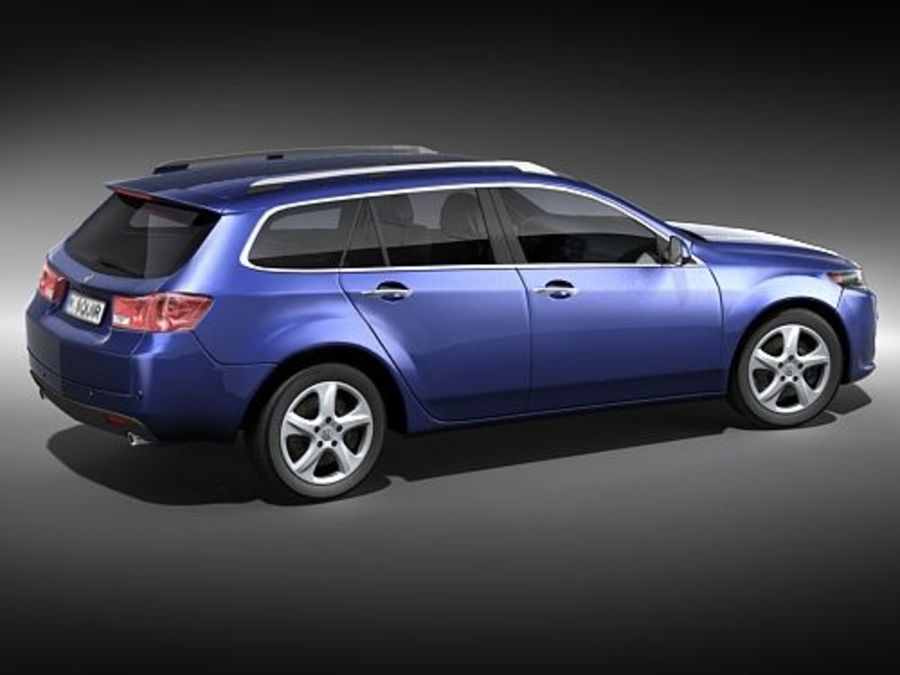 Honda Accord Tourer midpoly royalty-free 3d model - Preview no. 5