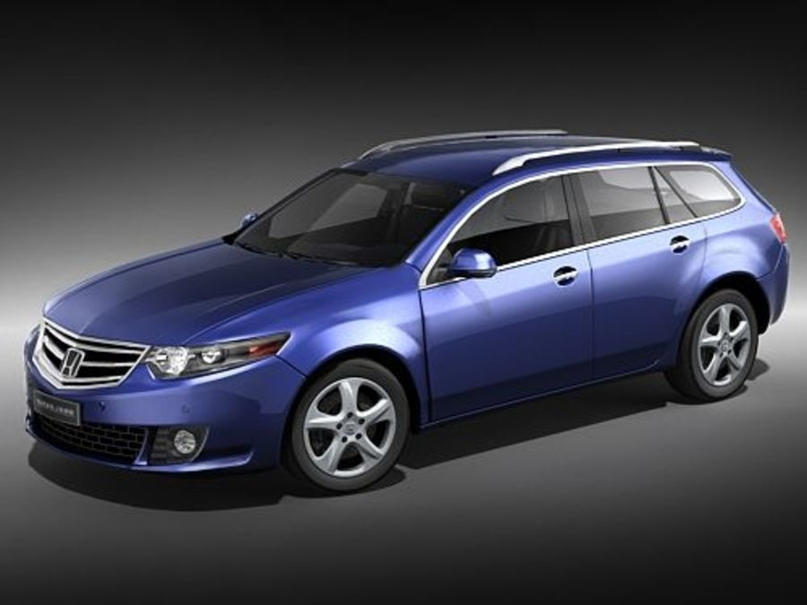 Honda Accord Tourer midpoly royalty-free 3d model - Preview no. 1