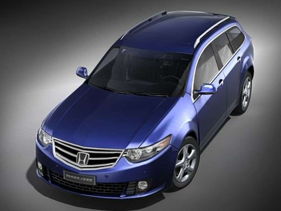 Honda Accord Tourer midpoly royalty-free 3d model - Preview no. 2