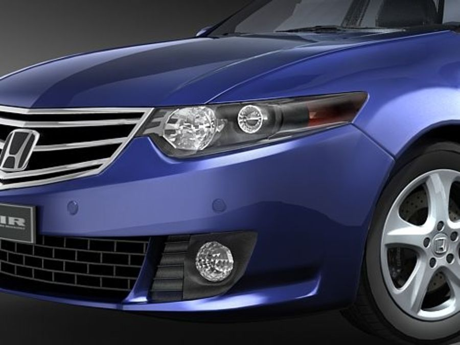 Honda Accord Tourer midpoly royalty-free 3d model - Preview no. 3