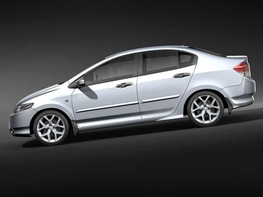 Honda City royalty-free 3d model - Preview no. 7